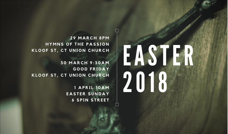 2018 Easter Weekend services at Hope City Presbyterian Church