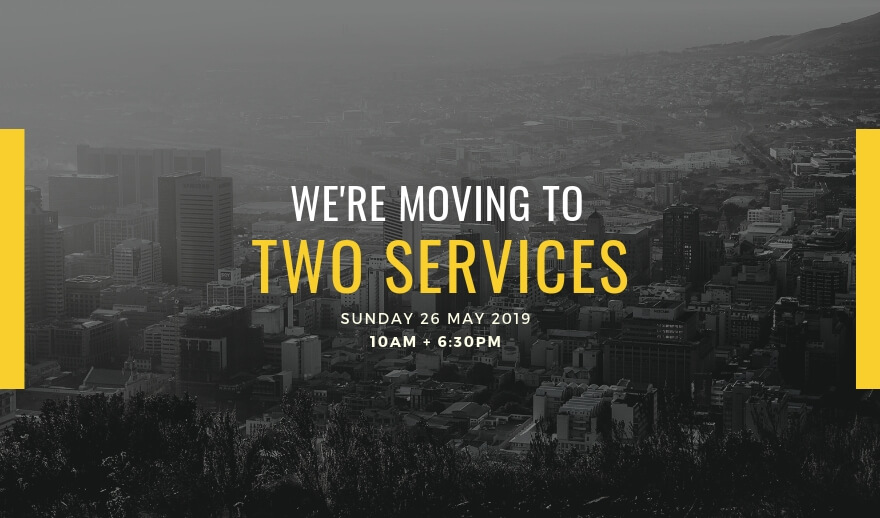 We are launching a new evening service on the 26th of May 2019 at 6:30pm.