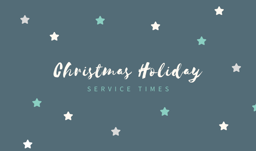 Services over the December-January holiday period.
